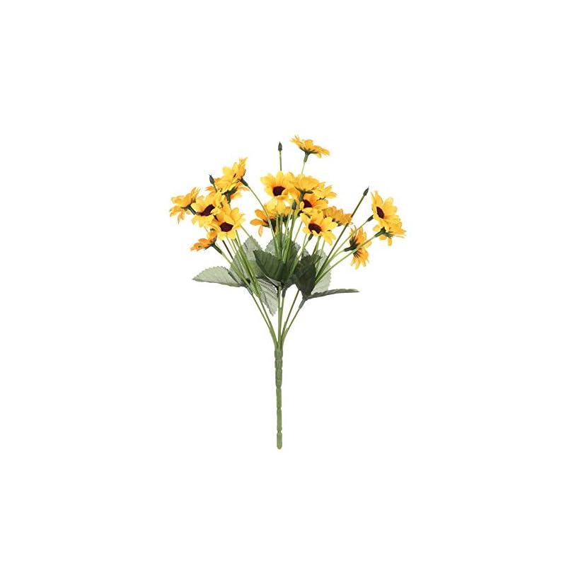 silk flower arrangements artificial & dried flowers, 13/20 heads elegant autumn decorations garden decor yellow sunflower bouquet silk artificial flowers home decoration(small)