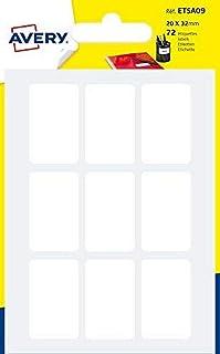 AVERY - Sachet de 72 étiquettes autocollantes, Format 20 x 32 mm