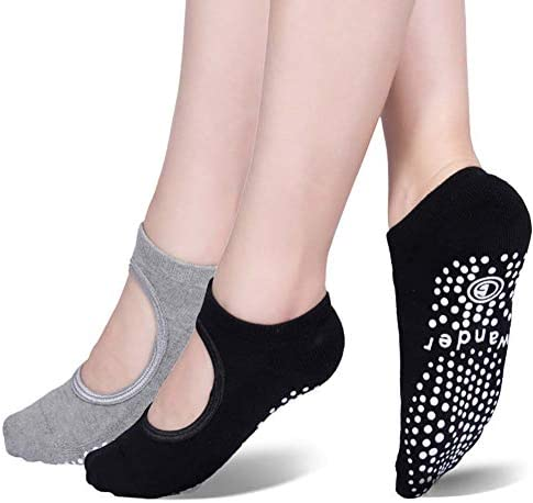 Yoga Socks Non Slip Skid Socks with Grips Pilates Ballet Barre Socks for Women product image