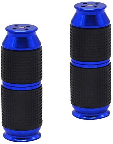 Timess Sahnespender Düsen 2 Stück Sahnebereiter Aluminiumlegierung Klein und tragbar Ledertasche Frostschutzhand Cream Whipper Dispenser (Blau)