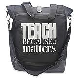 Teacher Gift Commuter Tote Bag for Supplies, Books