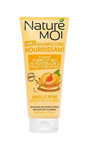 Naturé Moi – Après-shampooing nourrissant – À l'abricot du Roussillon et l'huile d'argan bio – Démêle et protège les cheveux secs et abîmés – 200ml