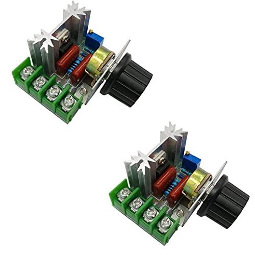 Jorzer Vitesse Du Moteur Module De Commande 50-220v Réglable Régulateur De Tension Pour Le Circuit Électrique 2000w Pwm Appliance 2pcs
