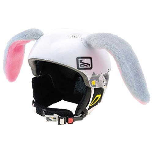 Crazy Ears Helm-Accessoires Hase Hund Ohren Ski-Ohren Tierohren, CrazyEars:Graue Hasen Ohren