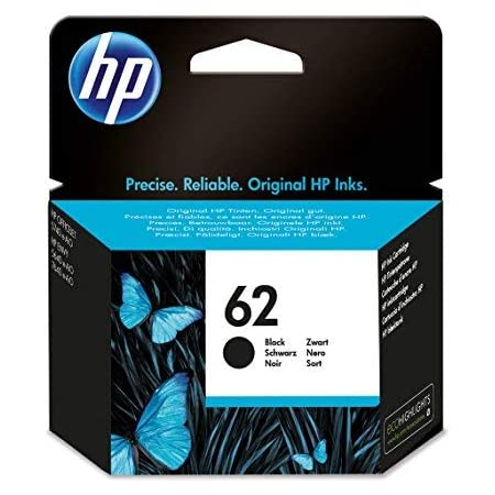 HP 62 C2P04AE Cartuccia Originale per Stampanti HP a Getto d'Inchiostro Compatibile con Stampanti HP Envy All in One 5540, 5642, 5644, 5742, 7640, l'Officejet 5740 e l'Officejet Serie 200, Nero