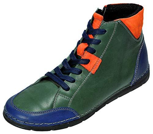 MICCOS Shoes Stiefel D.Schnürstfl in grün/blau, Größe 39.0,