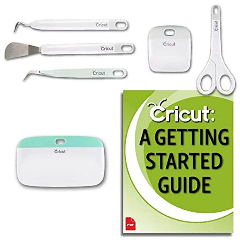 Cricut Basic Bundle - XL Scraper, 5 Piece Tool Kit, Beginner Guide