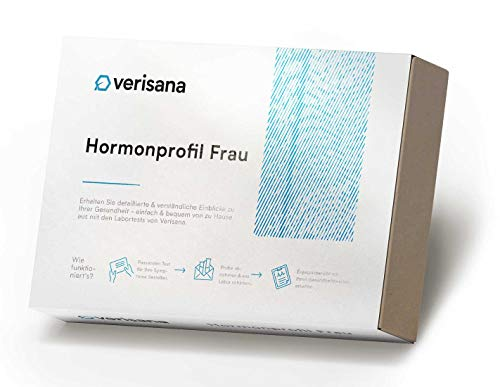 Hormontest für Frauen | Hormonprofil Frau mit Cortisol, DHEA, Östradiol, Testosteron und Progesteron Test | Laborchemische Untersuchung | Geeignet bei PMS und Menopause | Verisana