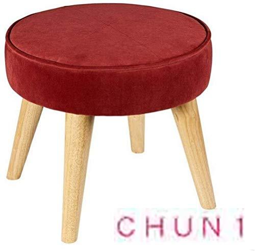 CHU N1 Hocker, Round Stoff Schuhmöbel Sofa Hocker Strong und rutsch 40cm × 36cm (Durchmesser x H) 128 (Size : 1)
