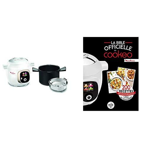 Moulinex Multicuiseur Intelligent Haute Pression 6 L 150 Recettes 6 Modes de Cuisson et La bible officielle du cookeo: 200 recettes incontournables po