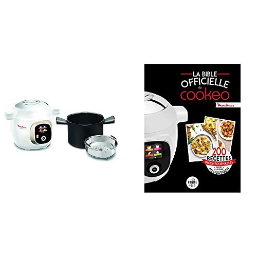 Moulinex Multicuiseur Intelligent Haute Pression 6 L 150 Recettes 6 Modes de Cuisson et La bible officielle du cookeo: 200 recettes incontournables pour cuisiner au quotidien