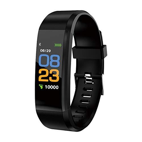 スマートウォッチ イマジン IMAZINE 115 スマートバンド スマートフォン対応 心拍計 血圧測定 活動量計 歩数計 睡眠モニター ランニングウォッチ:ブラック