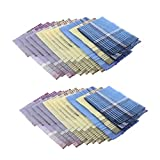 NJZYB Modelo de tela escocesa de los hombres de 24 pícaros Pañuelos de algodón Pañuelo de bolsillo clásico Hanky (Color : A, Size : 14.17 x 13.78 inch)