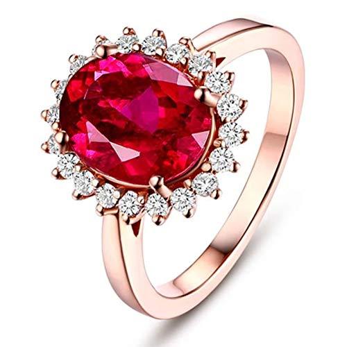 Ubestlove Gelbgold Ring 750 Damen Geschenke Für Frauen Chef Sonnenblume 1.4Ct Turmaline Ring 1.4Ct 52