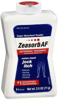 Zeasorb Antifungal Treatment Powder, Jock Itch - 2.5 oz, Pack of 4