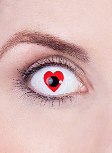 Maskworld Herz Kontaktlinsen/Monatslinsen -
