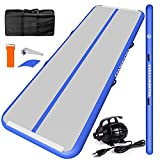 CHAMPIONPLUS 10ft 13ft 16ft 20ft Tumble Track Tumbling Mat Inflatable Gymnastics Air Mat 4/8 inches Thickness for Home Training Cheerleading Yoga with Electric Air Pump