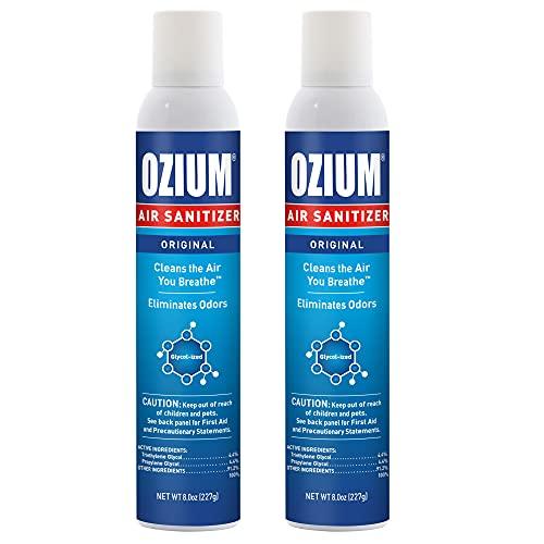 Ozium 8 Oz. Air Sanitizer & Odor Eliminator for Homes, Cars, Offices and More, Original Scent - 2 Pack