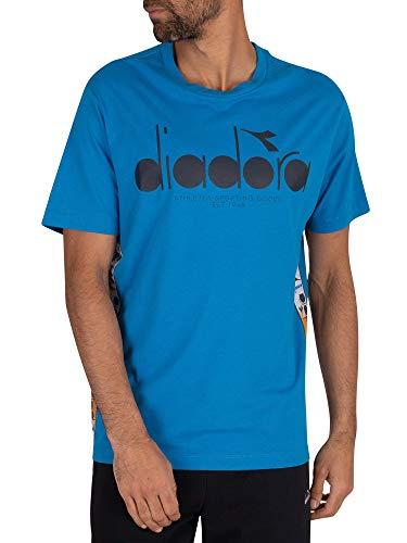 Diadora Herren 5Palle Abseits T-Shirt, Blau, L