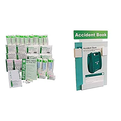 Safety First Aid Group HSE 11-20 Persons First Aid Refill with Accident Book Station & Free Accident Book (A4) Bundle from