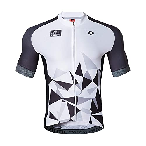 Santic Maillot Ciclismo Hombre Maillot Bicicleta con Mangas Cortas Camiseta Ciclismo Verano...