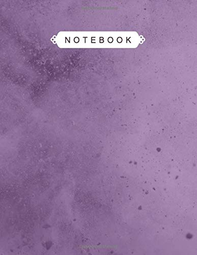 Notebook: Eminence Chalk Powder Color Background Print Composition Cover Lined Journal - College Ruled 110 Pages - Large 8.5x11 inches