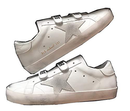 Golden Goose Zapatillas de deporte con velcro para hombre, color Blanco, talla 38 2/3 EU