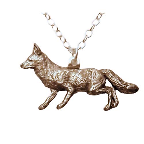 Pewter Fox Necklace 597