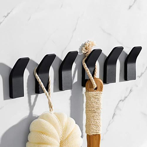Haken Selbstklebende, Handtuchhaken ohne Bohren Edelstahl Handtuchhalter Selbstklebend Wandhaken Bademantelhaken Klebehaken für Küche und Badzimmer, 6 Stück