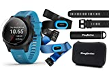 Garmin Forerunner 945 (Tri-Bundle) Power Bundle | Includes HRM-Tri & HRM-Swim Chest Straps, HD Screen Protectors (x4), Extra Watch Band (Black), PlayBetter Portable Charger & Protective Case