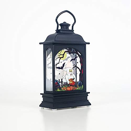 2 delar Halloween ond lysande trädgårdsdekoration enkelt ljus bordsdekoration transparent vind lykta LED bar atmosfär rekvisita och arrangemang leveranser nattlampa bordslampa, spöke