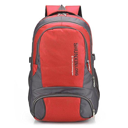 les voyages sac extérieur imperméables sport - loisirs de grande capacité d'escalader la randonnée du sac sac épaule multifonction étudiants H58 x W35 x T18 CM , red