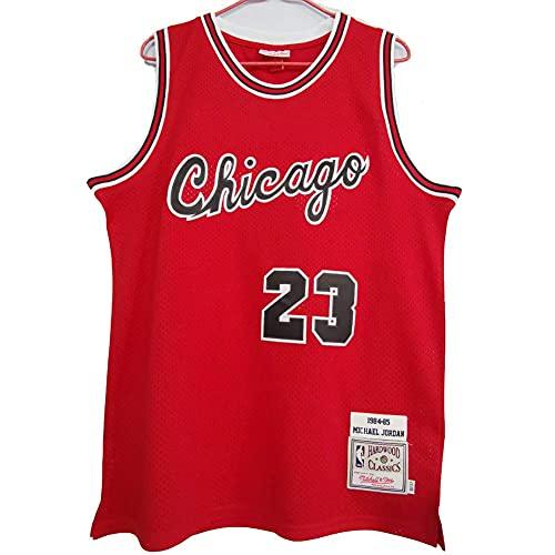 WEIZI Chicago Bulls #23 Michael Jordan Retro Camiseta de Jugador de Básquetbol Bordado Transpirable Resistente al Desgaste Camiseta de Fan de Hombres(Tamaño: S-XXL)