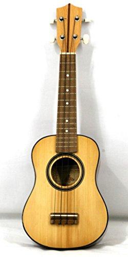 Musikalia–Ukelele soprano (Caoba, caja de resonancia de madera de pícea, fabricado por luthier)