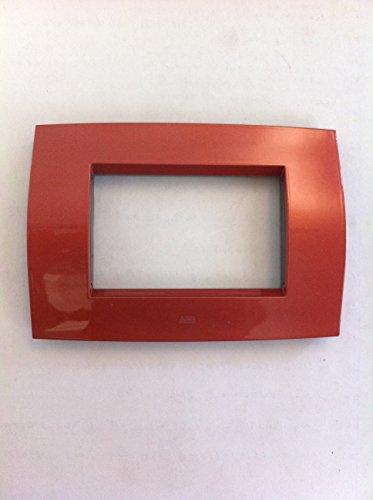 ABB Placca metallo 3 moduli rosso rame 2cse0321sfz