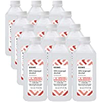12-Pack Solimo 99% Isopropyl Alcohol First Aid Antiseptic 16 Fl Oz