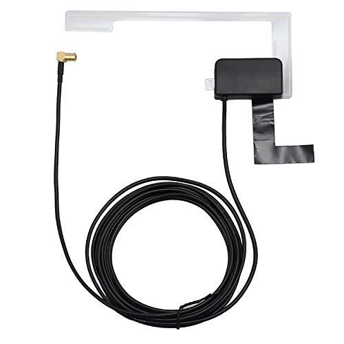 DAB Antenne Fensterantenne + Active DAB, Fensterklebstoffantenne für den DAB-Empfang - für alle Geräte mit SMB-Anschlüssen - für Pioneer, Kenwood, JVC, Alpine Radios
