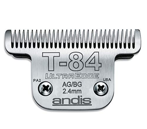 Andis Carbon-Infused Steel UltraEdge Dog Clipper Blade, Size-T-84, 3/32-Inch Cut Length (21641)