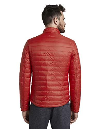 TOM TAILOR Herren Jacken Leichte Jacke mit Stehkragen Brilliant red,XL,12880,4000