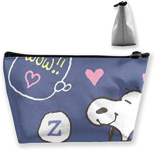 Makeup Bag Cosmetic Pouch Wow Snoopy Multi-Functional Trapezoidal Storage Bag Travel Kit Organizer