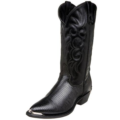 Laredo Mens Atlanta Croc Pointed Toe Western Cowboy Dress Boots Mid Calf - Black - Size 10.5 D