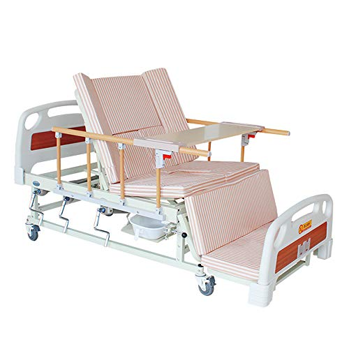 Multi-Funktions-Pflegebett, billig bewegliche manuelle Pflegebett Paralyzed Ältere Gebrauchte Rotating Krankenhaus-Bett mit Commode