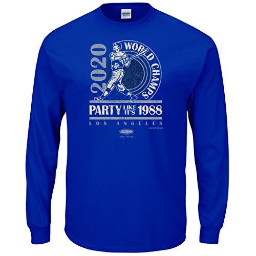 Los Angeles Baseball Fans. World Champs Royal Men's Long Sleeve T-Shirt (Sm-5X) (Long Sleeve, 2XL)