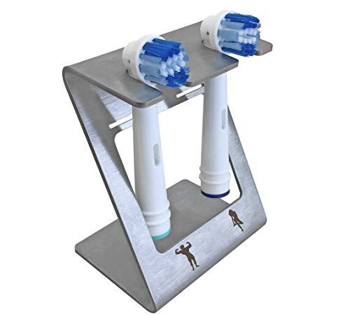 steland metallmanufaktur®, Soporte de pared para cepillo de dientes eléctrico, soporte para...