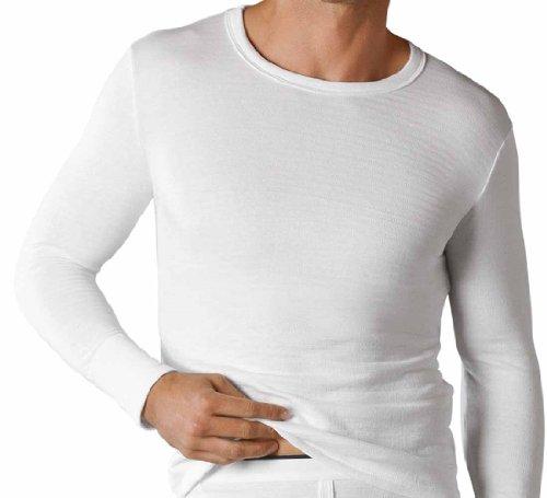 Soacks Uwear Sous-vêtement thermique à manches longues pour homme, hiver - Blanc - S
