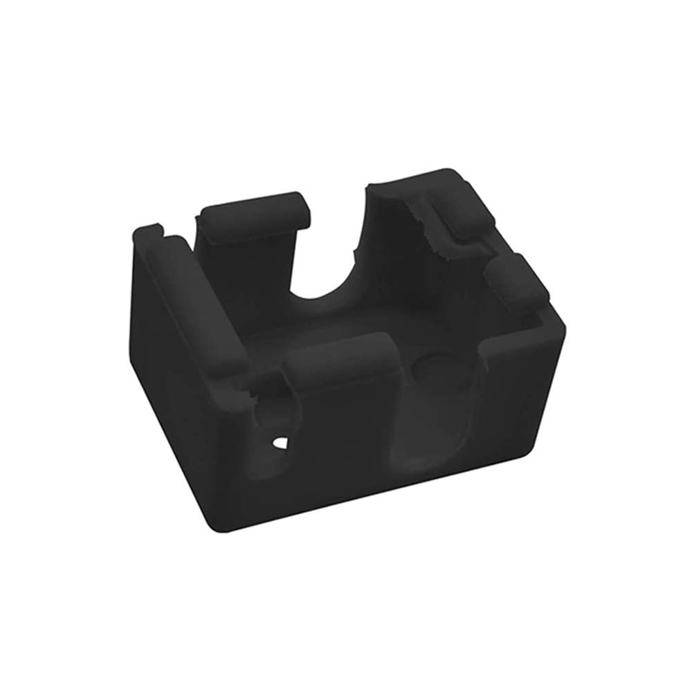 Negro Calcet/ín de silicona para calentador V6 Hotend bloque de calefacci/ón cubierta aislante 1 24V 40W