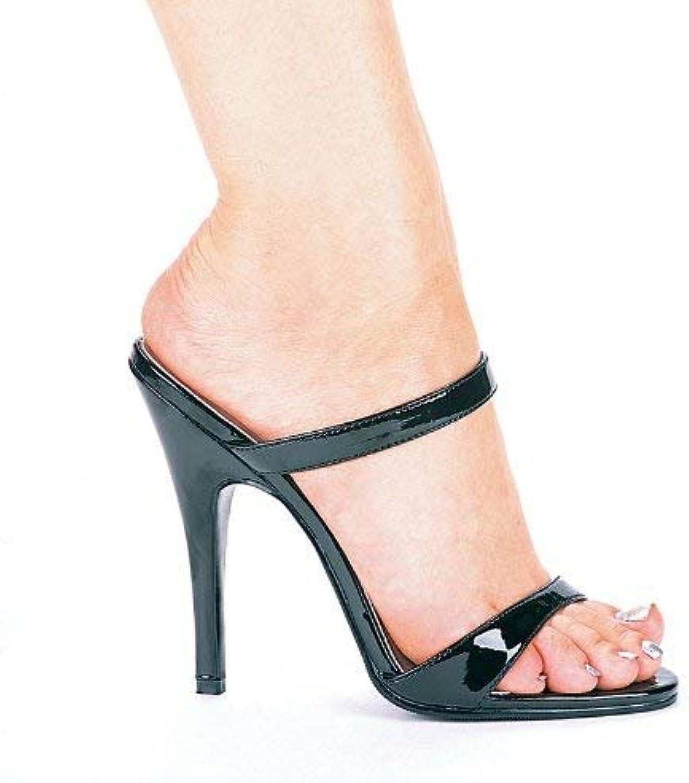ELLIE 510-MAGGIE 5  Heel Slip On Sandal, Black, 6 Size