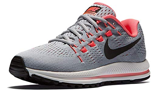Nike Women's Air Zoom Vomero 12 Running Shoes, Grey (Wolf Grey/Pure Platinum/Hot Punch/Black), 4.5 UK 38 EU