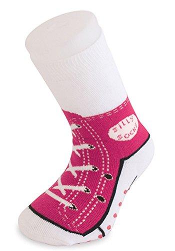 Sneaker Baseball Socken - Silly Socks im Sneakers Turnschuhe Stil (Pink)