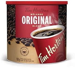 Tim Hortons Original Coffee, Fine Grind Coffee Can, Medium Roast, 930g